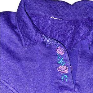 Vintage Floral Granny Style Crewneck Sweater